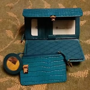 Etienne Aigner wallet, check book, and coin purse